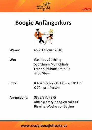 Boogie Anfängerkurs - Steyr